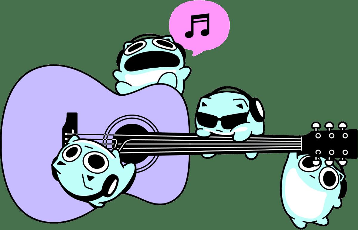 ブルーハムハムとは、音楽を奏でる生き物。